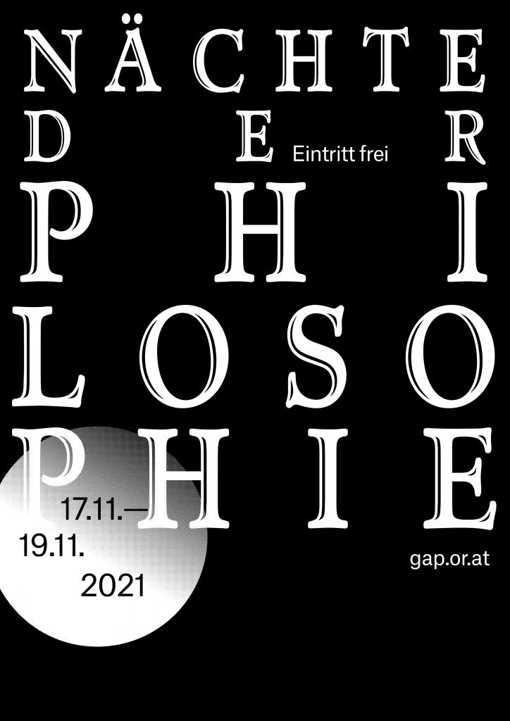 Plakatentwurf für die Nächte der Philosophie 2021