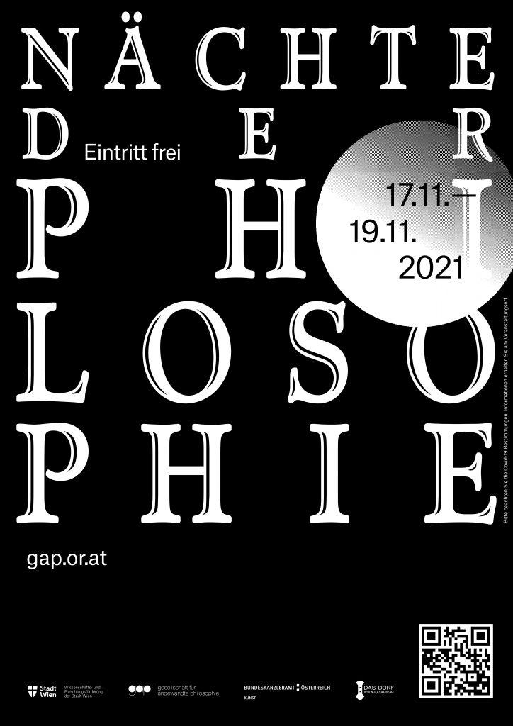 Plakat Nächte der Philosophie 2021